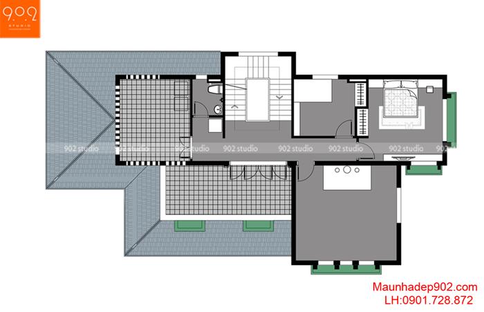 Biệt thự 3 tầng hiện đại -MB3 (nguồn: maunhadep902.com)