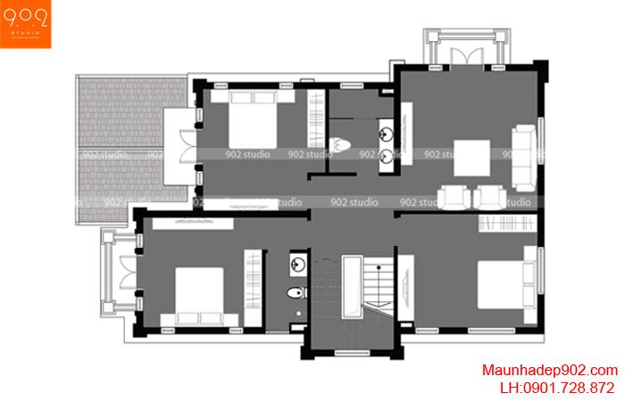 Biệt thự 3 tầng kiểu Pháp - MB2