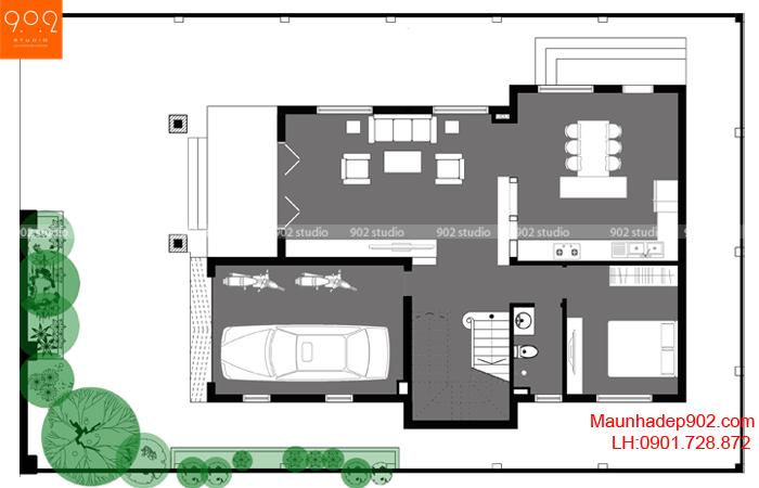 Biệt thự 3 tầng kiểu Pháp - MB1