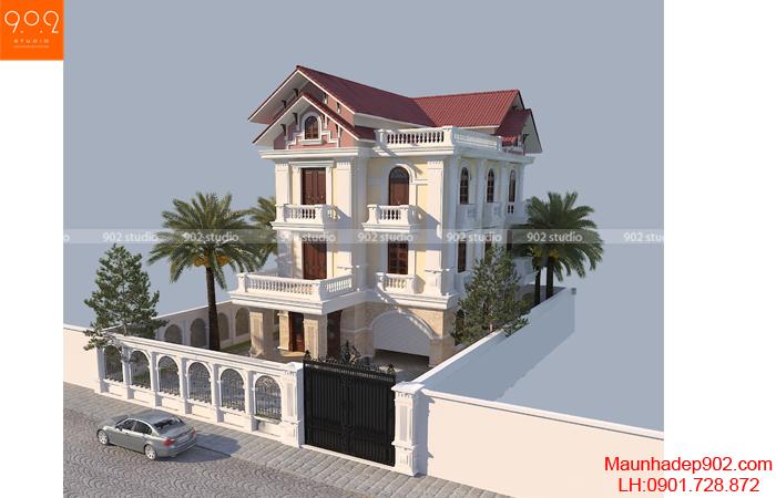 Mẫu biệt thự 3 tầng