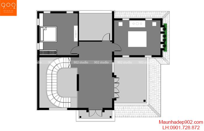 Biệt thự 3 tầng đẹp - BT131 MB3 (nguồn: maunhadep902.com)