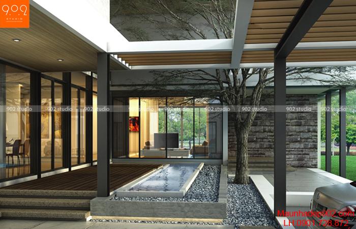 Biệt thự 2 tầng phối cảnh trong nhà (nguồn: maunhadep902.com)