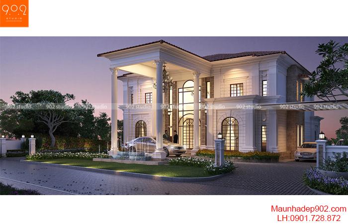 Mẫu biệt thự 2 tầng kiểu Châu Âu (nguồn: maunhadep902.com)