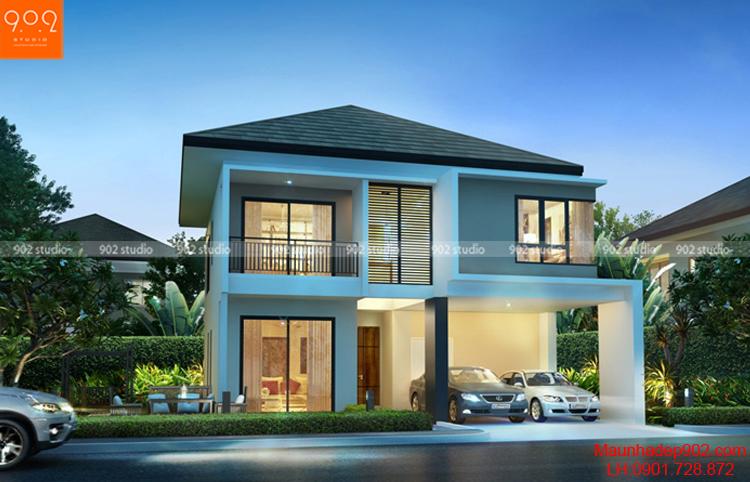 Biệt thự 2 tầng với thiết kế tối giản (nguồn: maunhadep902.com)