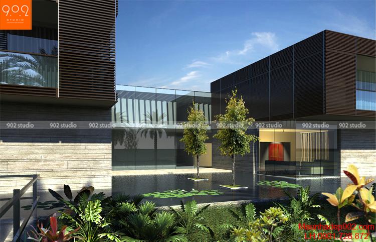 Biệt thự 2 tầng mini mặt bên (nguồn: maunhadep902.com)