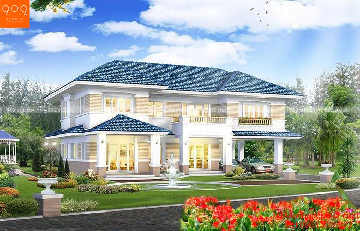 Biệt thự vườn 2 tầng đẹp (nguồn: maunhadep902.com)