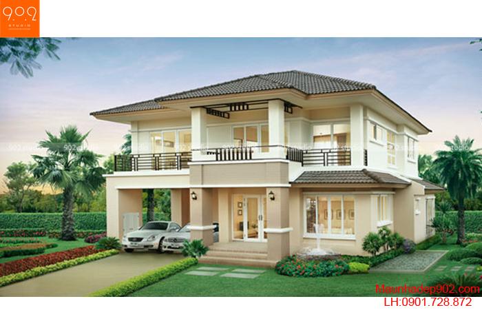 Biệt thự 2 tầng thiết kế trang nhã đẹp mắt (nguồn: maunhadep902.com)