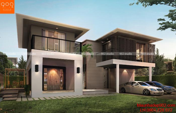 Thiết kế biệt thự 2 tầng song lập (nguồn: maunhadep902.com)