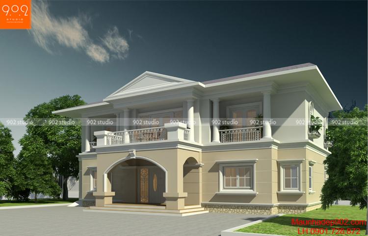 Biệt thự 2 tầng phong cách tân cổ điển (nguồn: maunhadep902.com