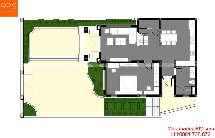 Mẫu biệt thự 3 tầng tân cổ điển - BT132-MB1 (nguồn: maunhadep902.com)