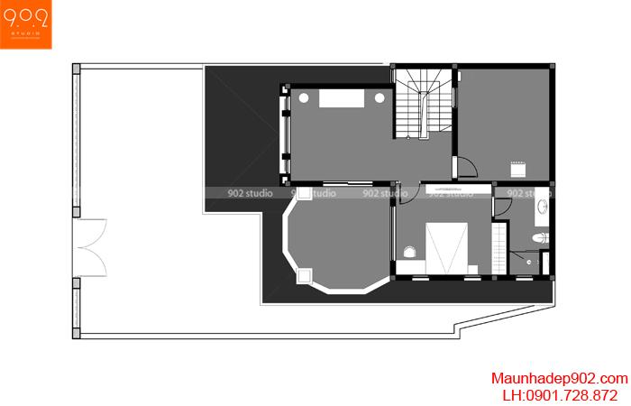 Mẫu biệt thự 3 tầng tân cổ điển - BT132-MB3 (nguồn: maunhadep902.com)