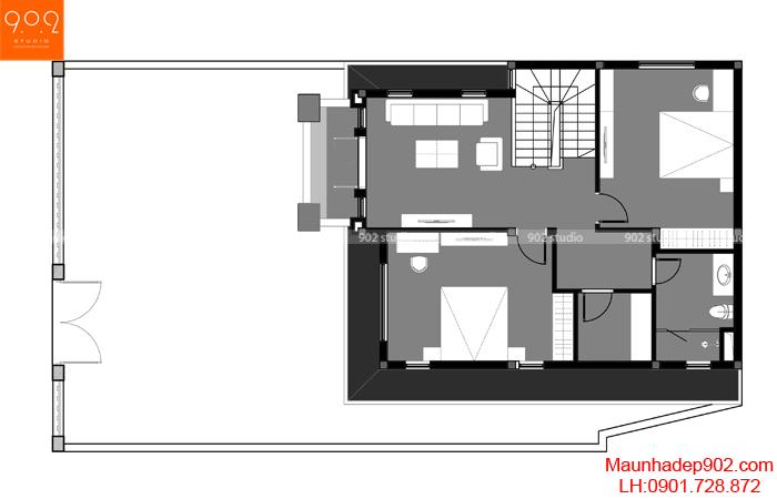 Mẫu biệt thự 3 tầng tân cổ điển - BT132-MB2 (nguồn: maunhadep902.com)