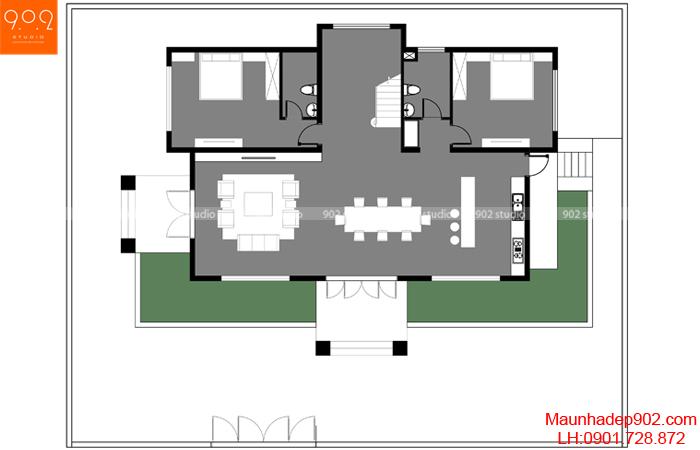 Mẫu biệt thự 2 tầng hiện đại tao nhã - BT133 MB1 (nguồn: maunhadep902.com)