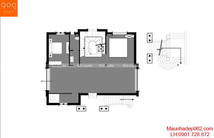 Biệt thự đẹp 4 tầng tân cổ điển - MB1 BT135 (nguồn: maunhadep902.com)