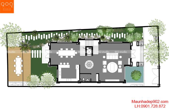 Mẫu nhà biệt thự đẹp - MB1 (nguồn: maunhadep902.com)