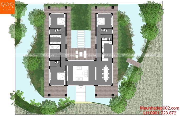 Thiết kế biệt thự nhà vườn cao cấp - MB1 (nguồn: maunhadep902.com)