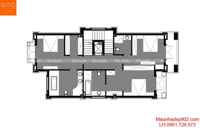 Mẫu nhà biệt thự đẹp - MB2 (nguồn: maunhadep902.com)