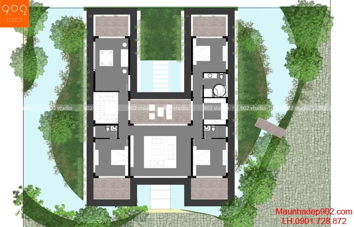 Thiết kế biệt thự nhà vườn cao cấp - MB2 (nguồn: maunhadep902.com)