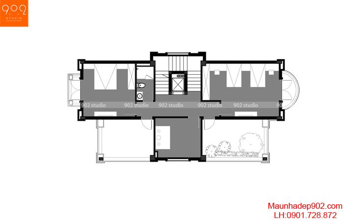 Mẫu nhà biệt thự đẹp - MB3 (nguồn: maunhadep902.com)