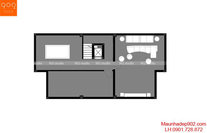 Mẫu nhà biệt thự đẹp - MB tầng hầm (nguồn: maunhadep902.com)