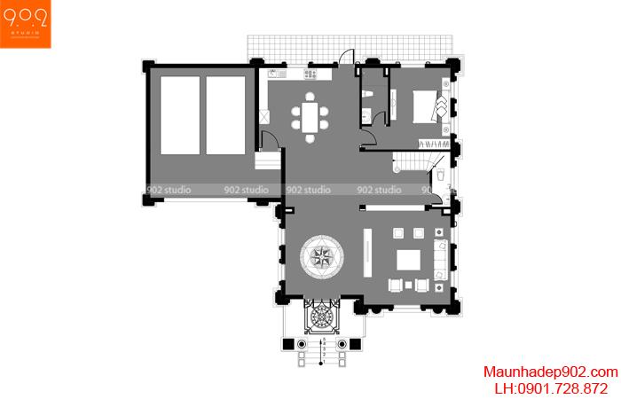 Biệt thự đẹp 3 tầng - MB1 (nguồn: maunhadep902.com)