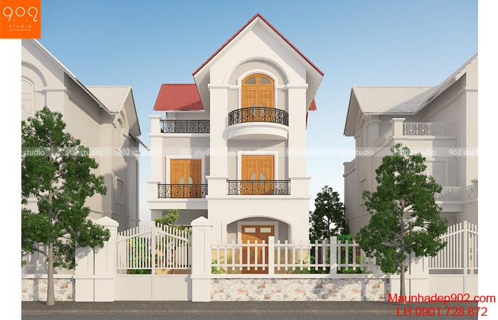 Thiết kế nhà biệt thự 3 tầng hiện đại - BT136 (nguồn: maunhadep902.com)