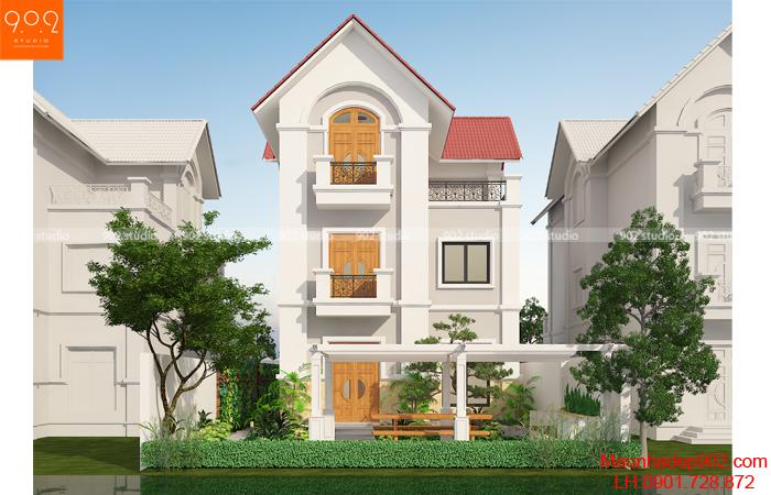 Thiết kế nhà biệt thự 3 tầng có hầm - BT136 (nguồn: maunhadep902.com)