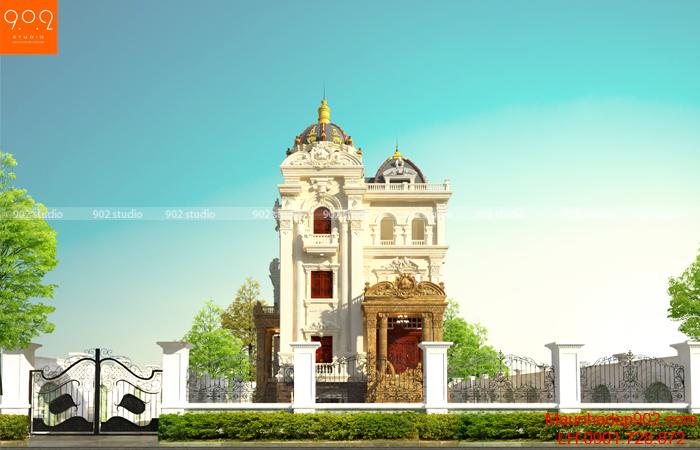 Thiết kế biệt thự đẹp - phối cảnh BT135 (nguồn: maunhadep902.com)