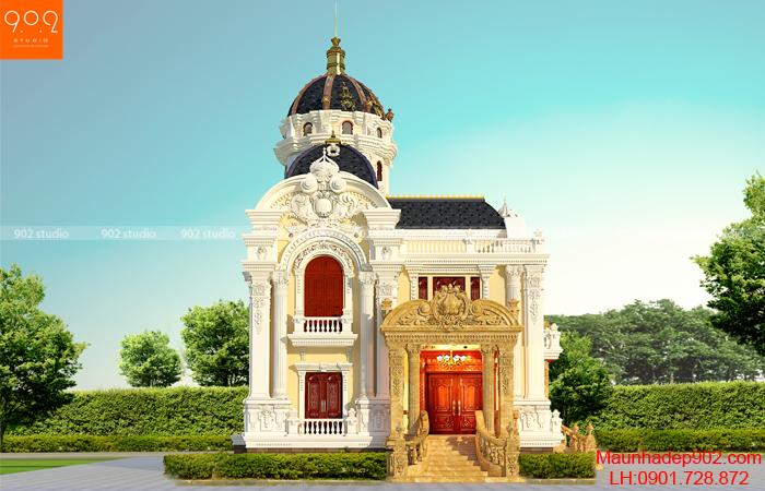 Thiết kế biệt thự 2 tầng 1 tum tân cổ điển - sảnh phụ - (nguồn: maunhadep902.com)
