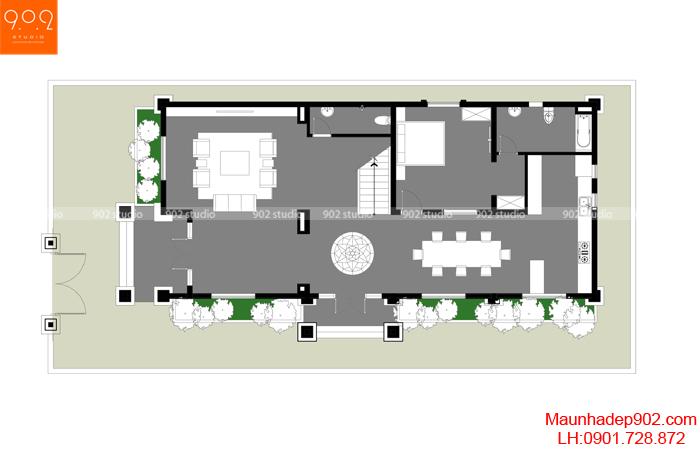 Biệt thự 2 tầng tân cổ điển đẹp - MB1 (nguồn: maunhadep902.com)