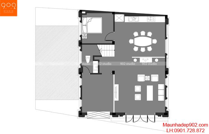 Biệt thự 3 tầng tân cổ điển Pháp - MB1 (nguồn: maunhadep902.com)