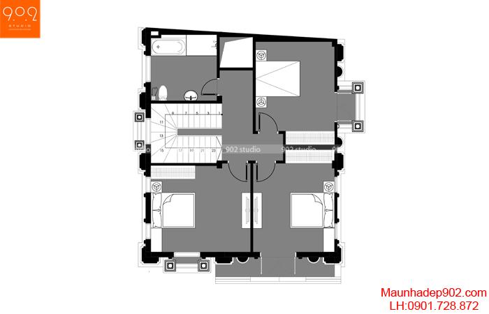 Biệt thự 3 tầng tân cổ điển Pháp - MB2 (nguồn: maunhadep902.com)