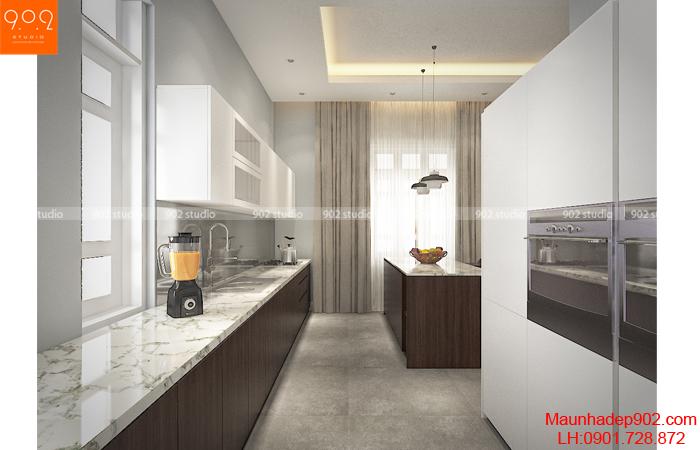 Mẫu nội thất nhà biệt thự đẹp - nội thất bếp (nguồn: maunhadep902.com)