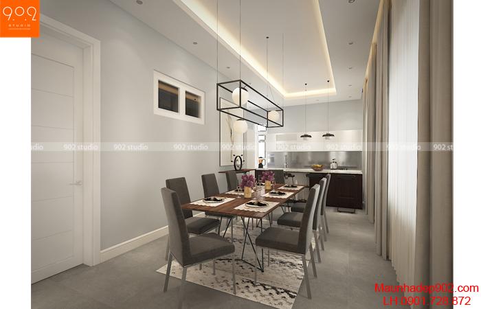 Thiết kế phòng ăn cho mẫu nhà biệt thự đẹp (nguồn: maunhadep902.com)