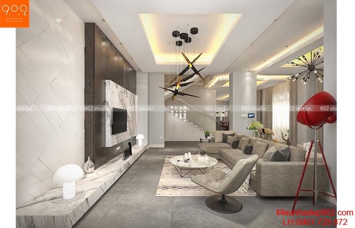 Nội thất phòng khách, mẫu nội thất nhà đẹp và sang trọng vô cùng ấn tượng (nguồn: maunhadep902.com)