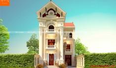 Mẫu biệt thự 3 tầng kiến trúc tân cổ điển - phối cảnh (nguồn: maunhadep902.com)
