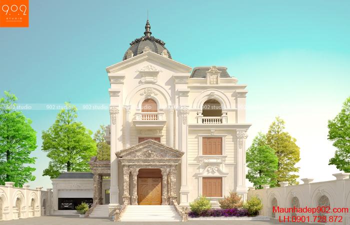 Biệt thự 3 tầng tân cổ điển sang trọng – Phối cảnh 2 (nguồn: maunhadep902.com)