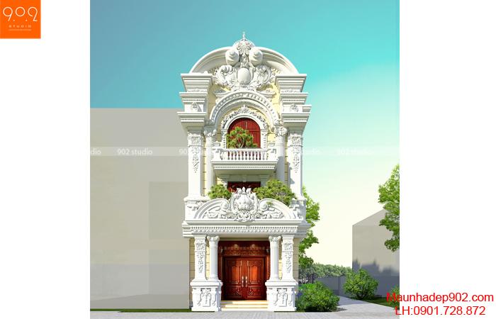 Chiêm ngưỡng biệt thự kiến trúc Pháp đẳng cấp, sang trọng = Phối cảnh 1 (nguồn: maunhadep902.com)