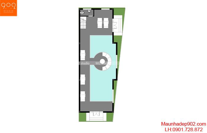Mặt bằng tầng 1 ngôi biệt thự nhà anh Thuỳ Phú Thọ (nguồn: maunhadep902.com)