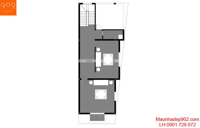Mặt bằng tầng 3 biệt thự tân cổ điển 3 tầng (nguồn: maunhadep902.com)