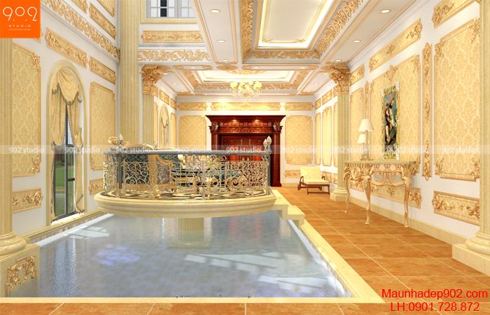 Thiết kế nội thất phòng khách đẹp ấn tượng (nguồn: maunhadep902.com)