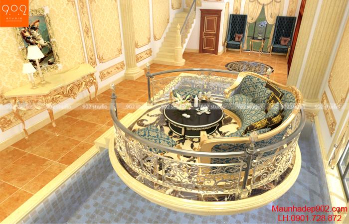 Khu vực đón tiếp các vị khách thiết kế đặc biệt thể hiện đẳng cấp ngôi biệt thự đẹp (nguồn: maunhadep902.com)