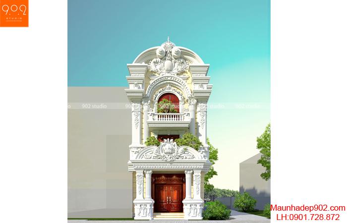 Mẫu biệt thự 3 tầng tân cổ điển đẹp - phối cảnh (nguồn: maunhadep902.com)