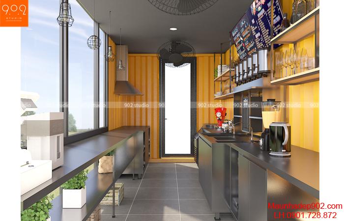 Không gian nội thất bên trong quán cafe nhỏ (nguồn: maunhadep902.com)