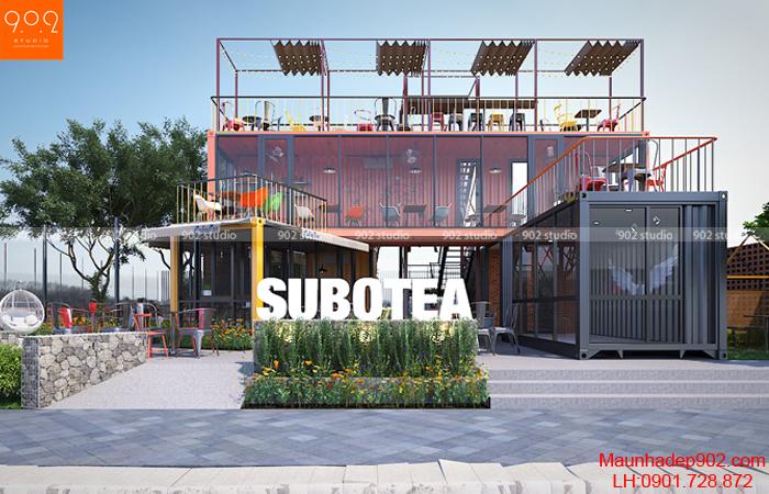 Thiết kế quán cafe nhỏ đẹp - NH08 (nguồn: maunhadep902.com)