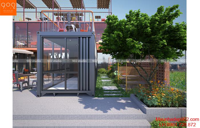 Thiết kế nội thất quán cafe nhỏ tại Hải Dương (nguồn: maunhadep902.com)