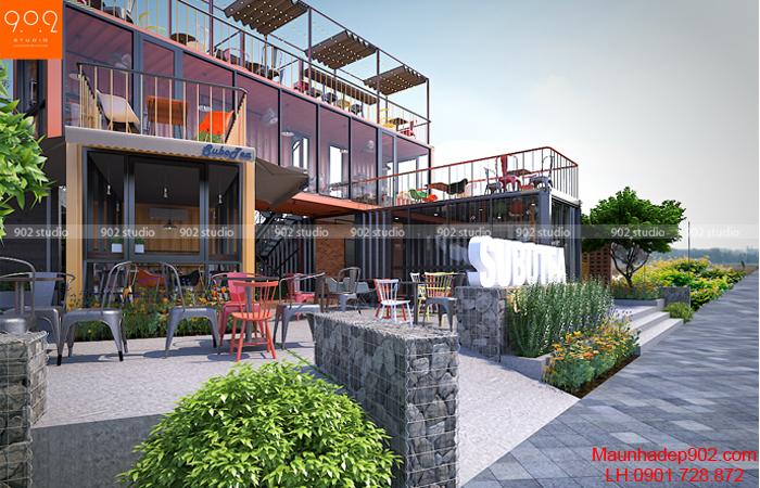 Không gian ngoài trời quán cafe nhỏ (nguồn: maunhadep902.com)