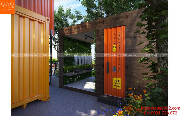 Mẫu thiết kế quán cafe nhỏ của chị Yến ở Hải Dương (nguồn: maunhadep902.com)