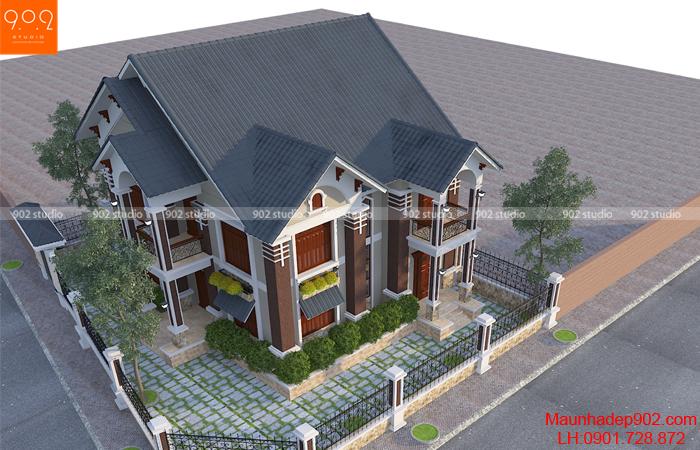 Nhà đẹp 2 tầng 150m2 hiện đại - BT57 (nguồn: maunhadep902.com)
