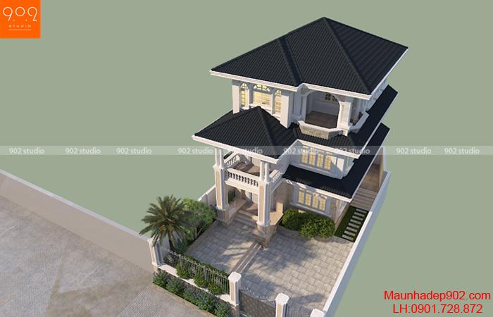 Mẫu biệt thự tân cổ điển phong cách đơn giản (nguồn: maunhadep902.com)